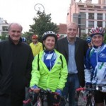 Les cyclotouristes en route pour Rimini