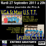 Tennis de Table : VGA - Levallois : Champion de France Pro B contre Pro A