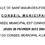 Conseil municipal du 28 fvrier 2013
